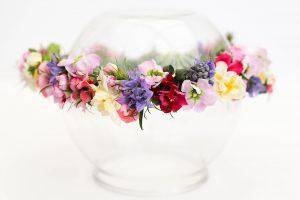 Flower crown boho wedding festival vintage flower girl Cheltenham