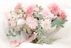 British seasonal flowers bouquet wedding pink and white Cheltenham